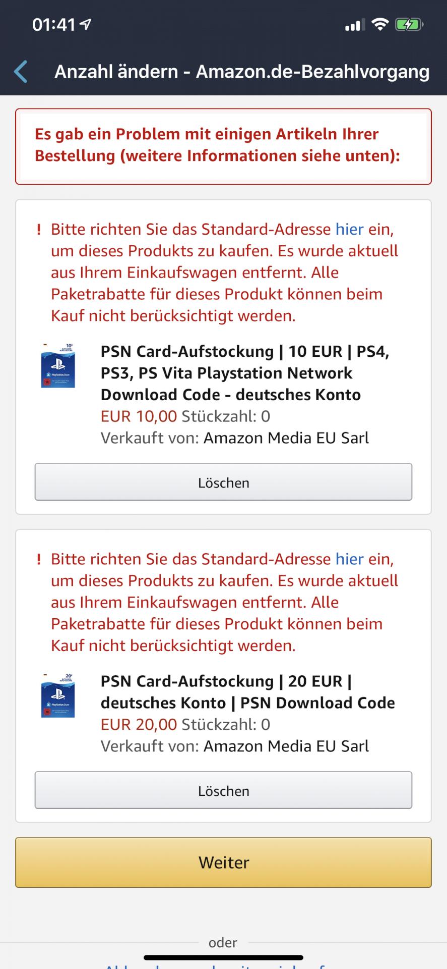 Amazon can't buy psn card? - ConsolesHub